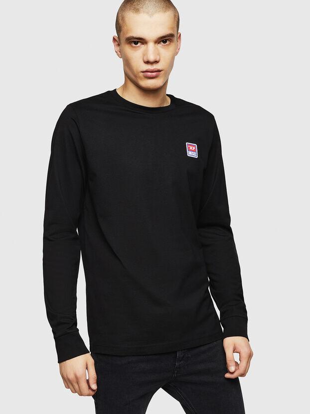 T-DIEGO-DIV-LS, Nero - T-Shirts