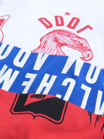 Diesel - TJUSTA1, Bianco/Rosso/Blu - T-shirts e Tops - Image 3
