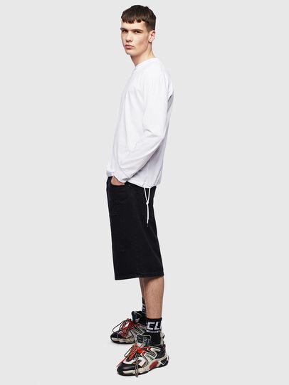 Diesel - T-HUSTY-LS, Bianco - T-Shirts - Image 8