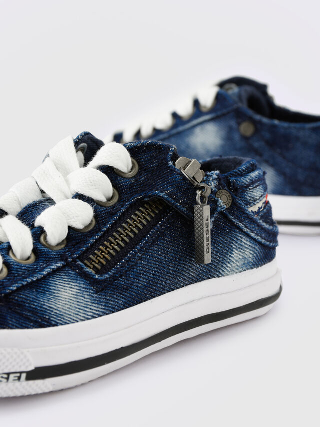 KIDS SN LOW 25 DENIM EXPO, Blu Jeans - Scarpe - Image 6