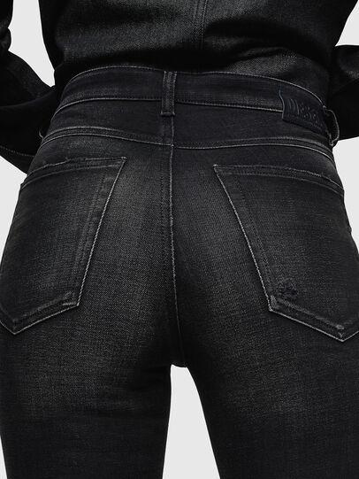 Diesel - Babhila High 0092B, Nero/Grigio scuro - Jeans - Image 5