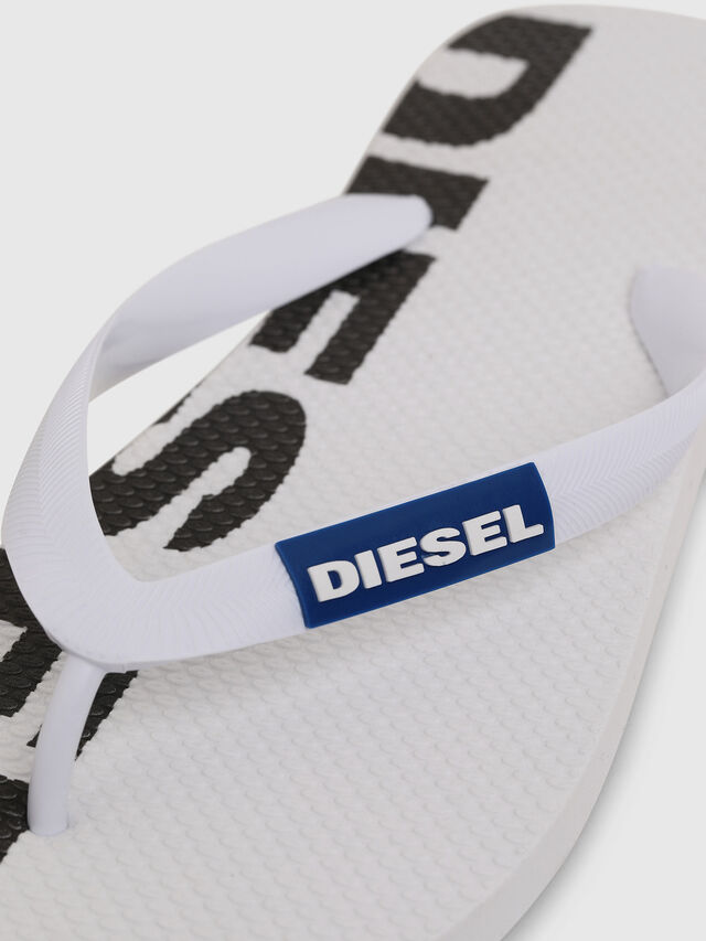 Diesel - SA-BRIIAN, Bianco/Nero - Ciabatte - Image 3