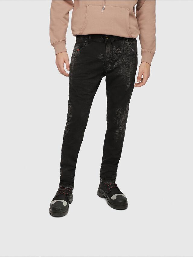 Diesel - Krooley JoggJeans 069DT, Nero/Grigio scuro - Jeans - Image 1