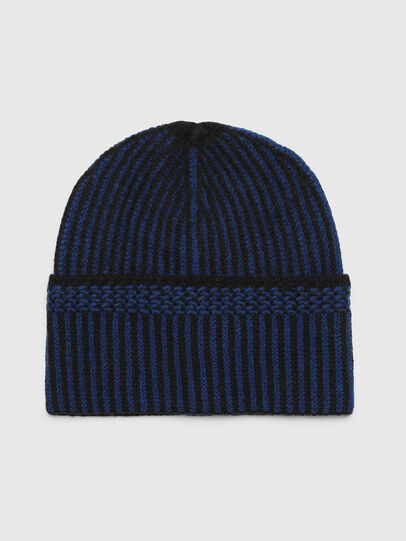 Diesel - K-MANNYS, Nero/Blu - Cappelli invernali - Image 1
