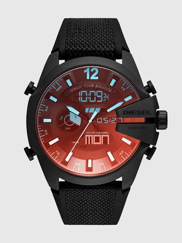 Orologio Mega Chief analogico-digitale con cinturino in nylon e silicone nero
