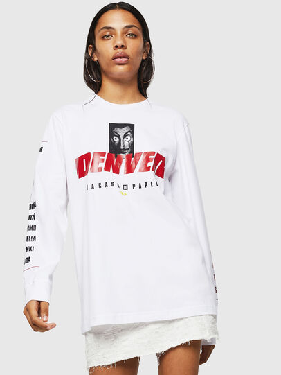 Diesel - LCP-T-JUST-LS-DENVER, Bianco - T-Shirts - Image 2