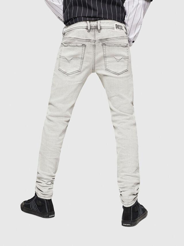 Diesel - Sleenker 0090F, Grigio Chiaro - Jeans - Image 2
