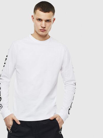 Diesel - T-JUST-LS-T14, Bianco - T-Shirts - Image 1