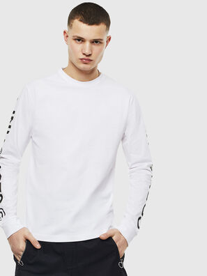 T-JUST-LS-T14, Bianco - T-Shirts