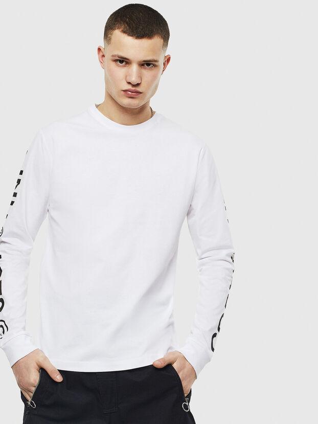 T-JUST-LS-T14, Bianco - T-Shirts