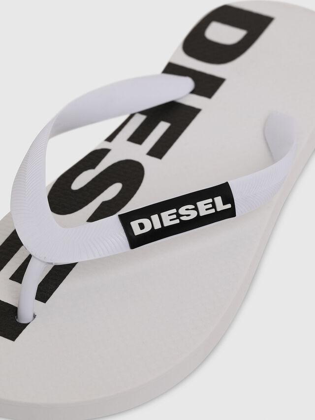 Diesel - SA-BRIIAN W, Bianco/Nero - Ciabatte - Image 3