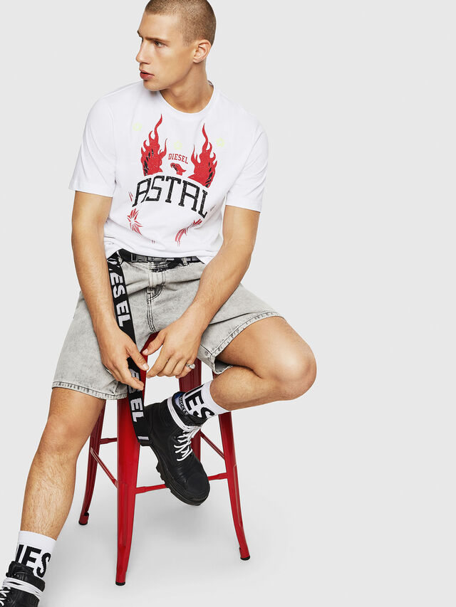 Diesel - T-JUST-A5, Bianco - T-Shirts - Image 4