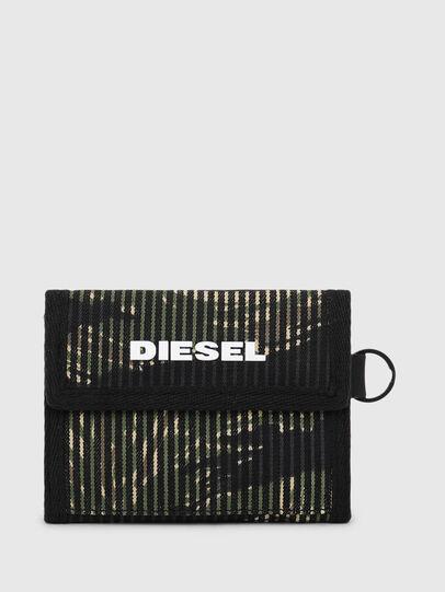 Diesel - YOSHI, Nero/Verde - Portafogli Piccoli - Image 1