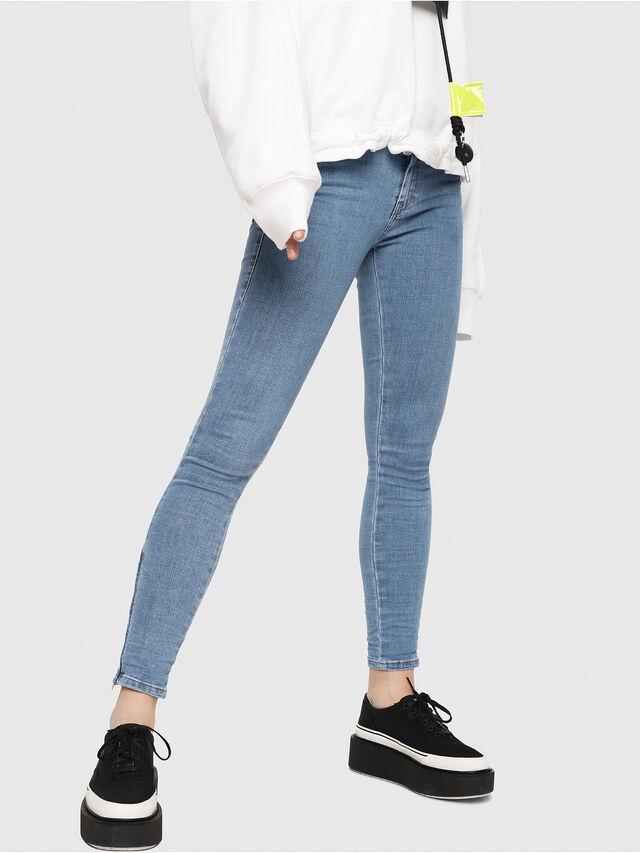 Diesel - Slandy Zip 069FN, Blu Chiaro - Jeans - Image 1