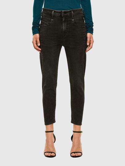 Diesel - Fayza JoggJeans 009HM, Nero/Grigio scuro - Jeans - Image 1