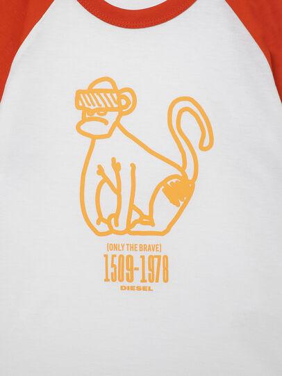 Diesel - TBALYB-R, Bianco/Arancione - T-shirts e Tops - Image 3