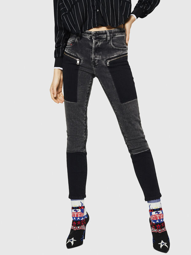 Babhila 0890T, Nero/Grigio scuro - Jeans