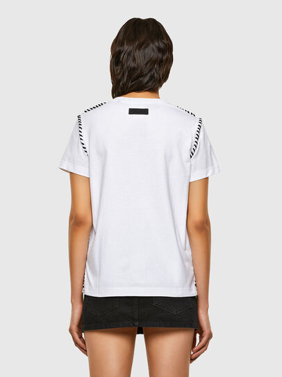 Diesel - T-TWISTY, Bianco - T-Shirts - Image 2