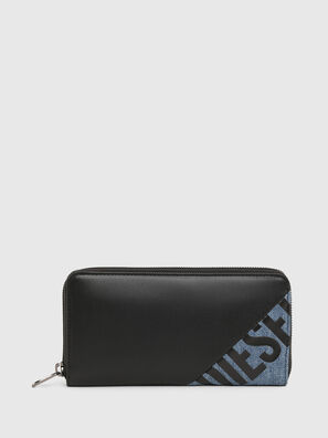 24 ZIP, Nero/Blu - Portafogli Con Zip