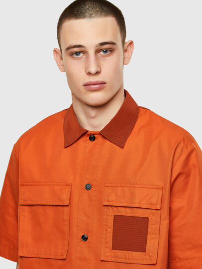 Diesel - S-GUNN, Arancione - Camicie - Image 3