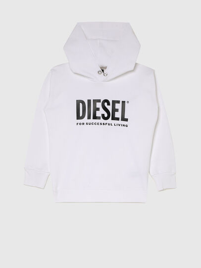 Diesel - SDIVISION-LOGOX OVER, Bianco - Felpe - Image 1