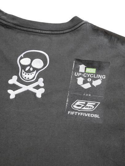 Diesel - D-5055-G, Nero - T-Shirts - Image 7
