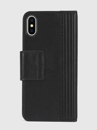 Diesel - BLACK LINED LEATHER IPHONE X FOLIO,  - Cover a libro - Image 5
