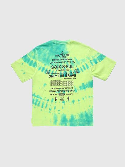 Diesel - TJUSTSLITSX86 OVER, Verde Fluo - T-shirts e Tops - Image 2