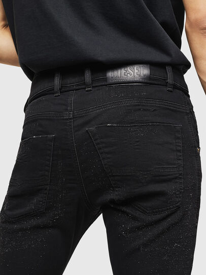 Diesel - Krooley JoggJeans 0092N, Nero/Grigio scuro - Jeans - Image 4