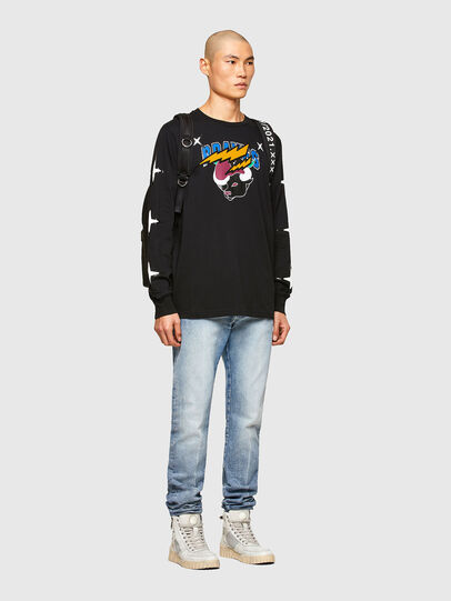 Diesel - CL-T-JUST-LS-O, Nero - T-Shirts - Image 7