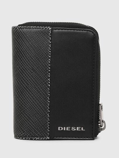 Diesel - L-12 ZIP, Nero/Bianco - Portafogli Con Zip - Image 1