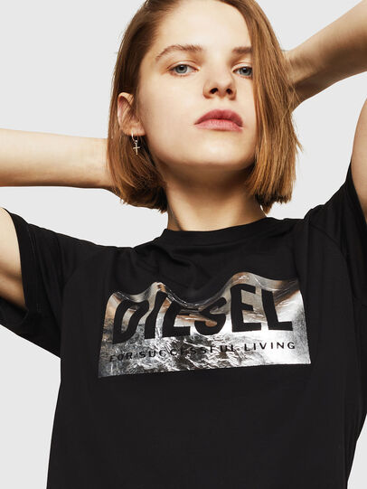 Diesel - T-FOIL, Nero - T-Shirts - Image 3