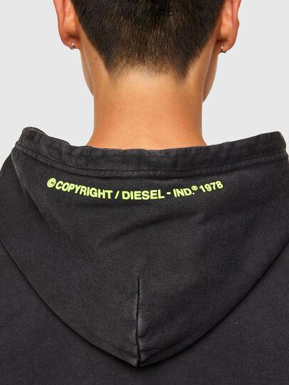Diesel - S-GIRRIB-HOOD-A71, Nero - Felpe - Image 4