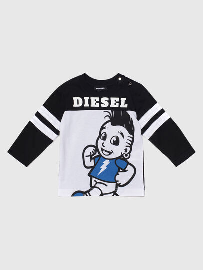 Diesel - TILLYB, Nero/Bianco - T-shirts e Tops - Image 1