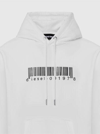 Diesel - S-GIRK-HOOD-X2, Bianco - Felpe - Image 3