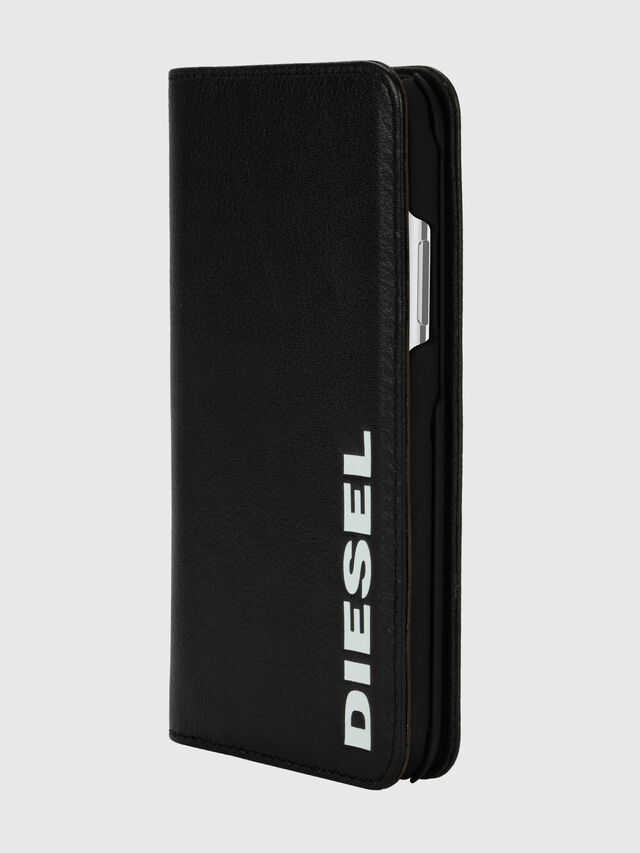 Diesel - DIESEL 2-IN-1 FOLIO CASE FOR IPHONE XS & IPHONE X, Nero/Bianco - Cover a libro - Image 3