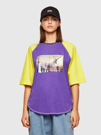 Diesel - T-SPO, Viola/Giallo - T-Shirts - Image 1