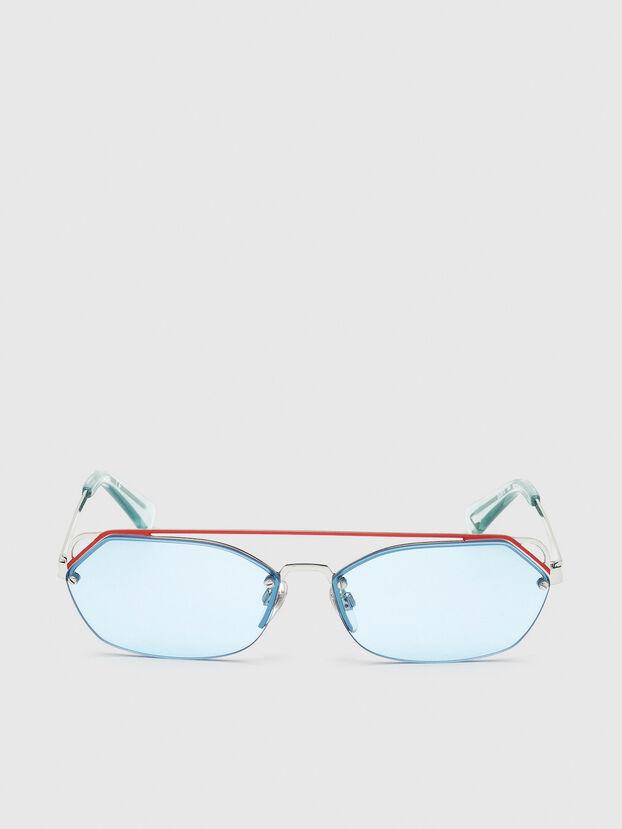 DL0313, Bianco/Rosso - Occhiali da sole