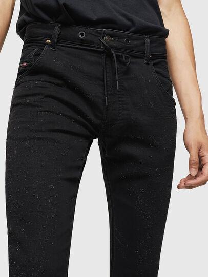 Diesel - Krooley JoggJeans 0092N, Nero/Grigio scuro - Jeans - Image 3