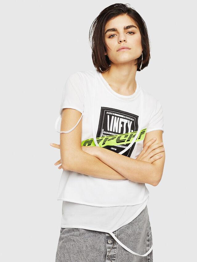 Diesel - T-EMIKO-B, Bianco - T-Shirts - Image 4