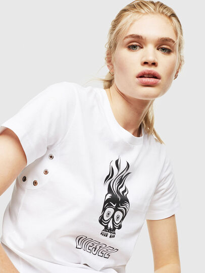 Diesel - T-SILY-WQ, Bianco - T-Shirts - Image 3