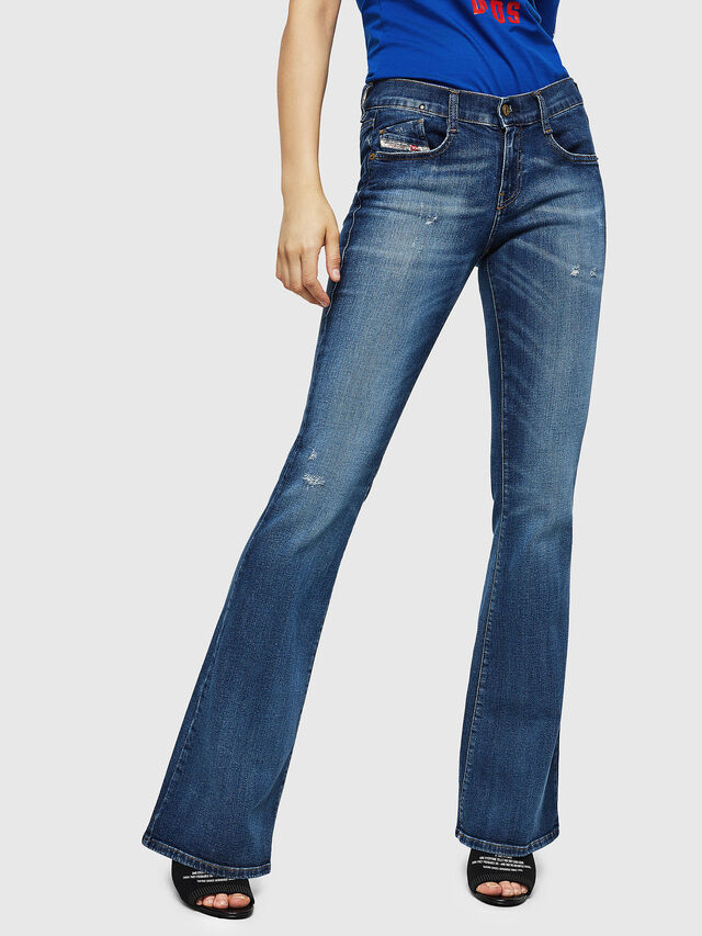 Diesel - D-Ebbey 069FY, Blu medio - Jeans - Image 1