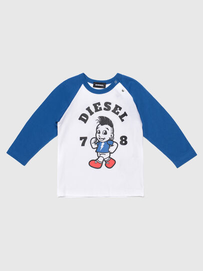 Diesel - TORAB, Bianco/Blu - T-shirts e Tops - Image 1