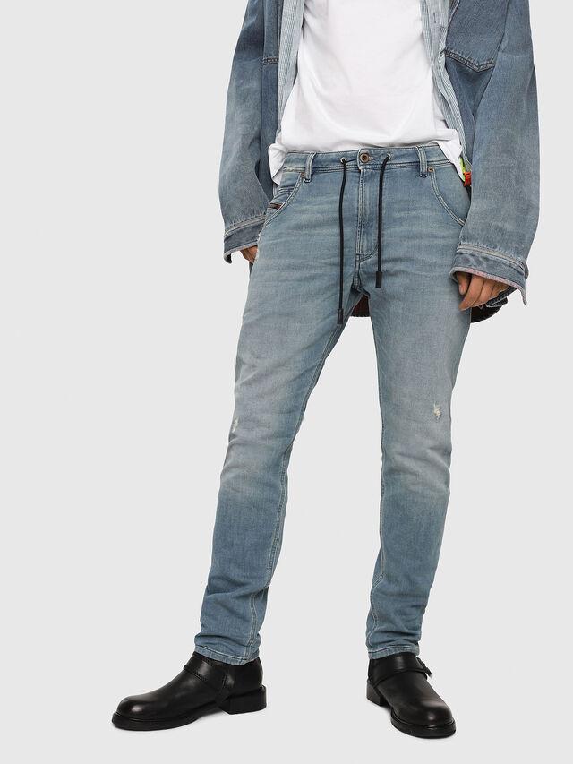 Diesel - Krooley JoggJeans 086AY, Blu medio - Jeans - Image 1