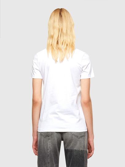 Diesel - T-SILY-SMALLOGO, Bianco - T-Shirts - Image 2