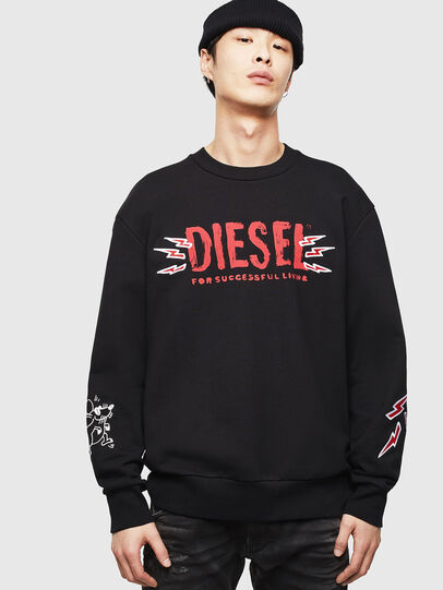 Diesel - CL-SNOR-LITMA, Nero - Felpe - Image 1
