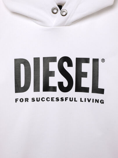 Diesel - SDIVISION-LOGOX OVER, Bianco - Felpe - Image 3