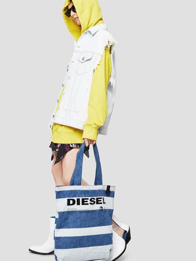 Diesel - F-THISBAG SHOPPER NS, Blu Jeans - Shopper e Borse a Spalla - Image 5