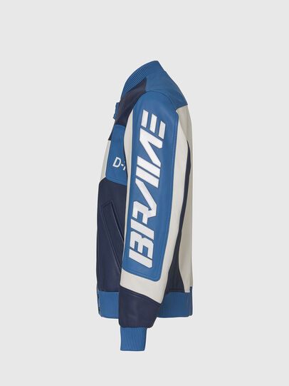 Diesel - L-MAY, Blu/Bianco - Giacche di pelle - Image 3