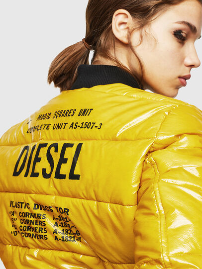 Diesel - W-ONY, Giallo - Giacche invernali - Image 3